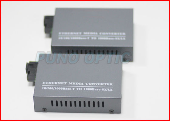 Chiny Fast Fibre Optic Media Converter 10/100 / 1000Base - RJ45 do 1x 1000Base-SFP fabryka